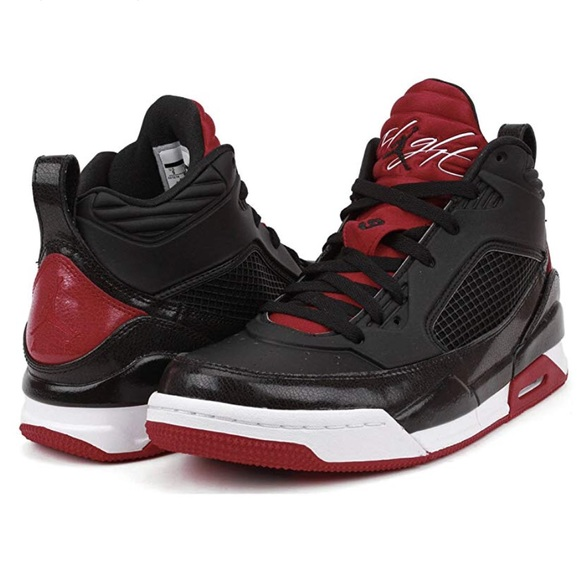 release date: 60e2a 1698f Boys Jordan Flight Black Red Basketball Shoes